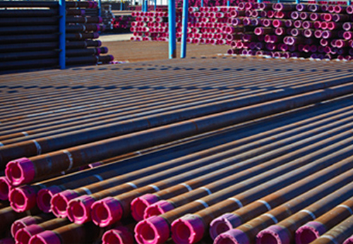 Vallourec quality pipe threaded with VAM® premium connections awaits shipment from the yard